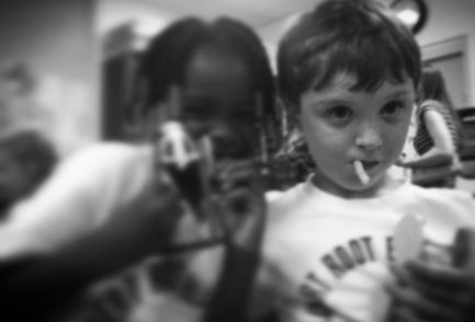 My youngest son always bonded best with African American girls. Youth doesn't care about color.
