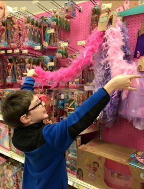 Charlie's favorite toy aisle