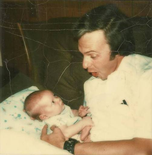 Dad with newborn me 1974