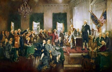 U.S. - signing of the constitution