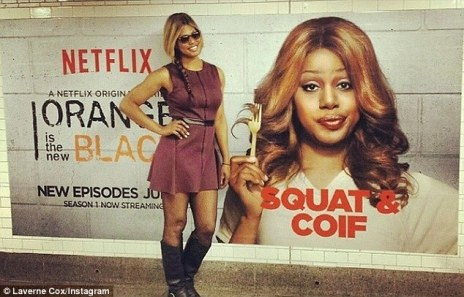 Laverne Cox - Sophia Burset, via dailymail.co.uk