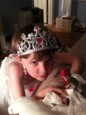 Charlie, age 3, being The Red Queen