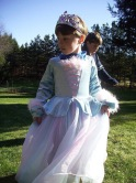 Charlie, age 4, in a favorite princess gown